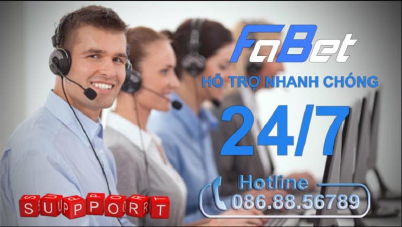 Dịch vụ hỗ trợ người chơi tại nhà cái Fabet